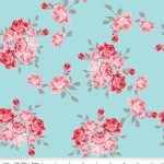 Riley Blake Designs - Knit Prints - Idle Wild Floral Main in Blue